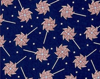 "Springs Creative USA Patriotic Pinwheels  100% cotton 43"" wide fabric (H150)"