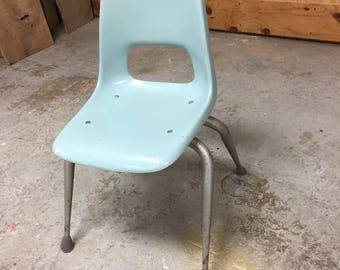 Mid Century Modern Brunswick Bowling Alley Fiberglass Kids Chair
