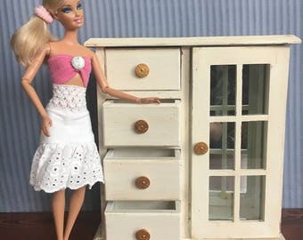 Barbie Doll Furniture, Doll Furniture, Doll Wardrobe, Doll Armoire, 1:6 Scale