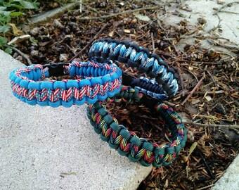 Paracord Bracelet, Cobra Pattern