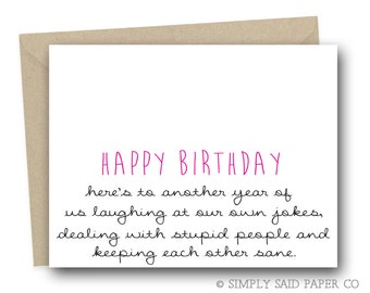 Greeting Card - Funny Birthday Card, Card for Her, Funny Birthday Card for Her, Birthday Card for Friend,