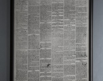 New York Times Newspaper First Issue : Vintage New York Newspaper from September 18th, 1851