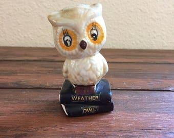 Vintage Ceramic Owl / Weather Owl Figurine