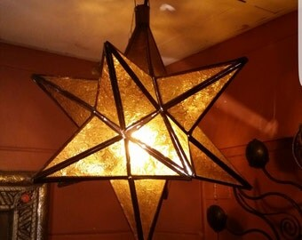 Amber Star Lamp. Special Listing