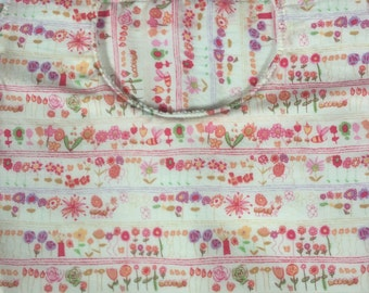 Liberty *Jolie Rose: bib & burp cloth set