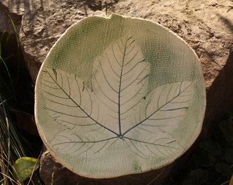 Floral plate Maple leaf Decorative plate Dinner plate Rustic plate Pottery plate Serving plate Wall plate Hand trown plate Wall hangings