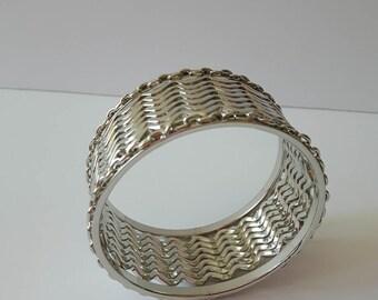 Silver Tone Cuff Bracelet, Silver Bangles, Multi Layered Bracelet, Antique Bracelets, Wedding Bracelets, Vintage Bracelets, Gifts for Her,