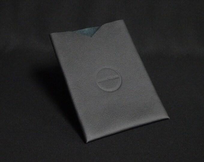Passport Sleeve - Black Stitchless - Kangaroo leather with optional RFID chip blocking - Handmade - James Watson