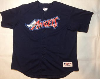 California angels majestic baseball jersey mens 2xl xxl 90s stitched authentic