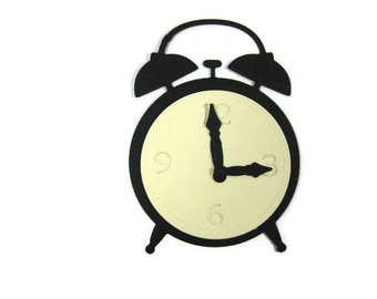 Alarm Clock Die Cut Set of 10