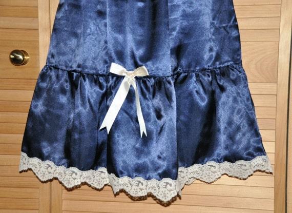 Beautiful silky soft waist / half slip, lacy feminine hem, lovely lingerie for lacy peeks, Sissy Lingerie