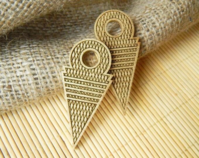 Tribal pendant, boho pendant, tuareg ethnic pendant, tanfouk, copy vintage talhakimt, african trade bead jewelry, gold bohemian pendant