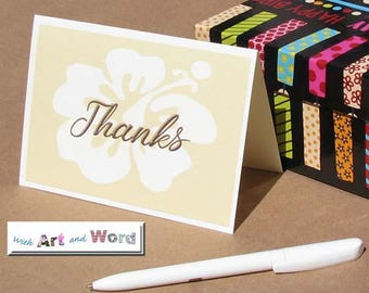 Thank you cards; Hibiscus; Blank Note Cards; Blank Thank You Card; Stationery; Greeting Card; Gift Idea