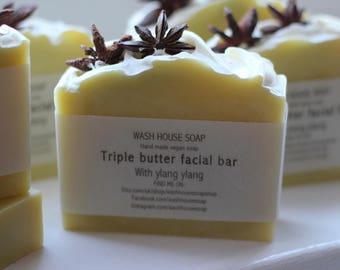 Tripple butter facial bar (vegan soap)