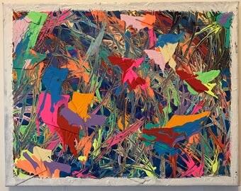 Untitled Artwork. Acrylic on Canvas Painting