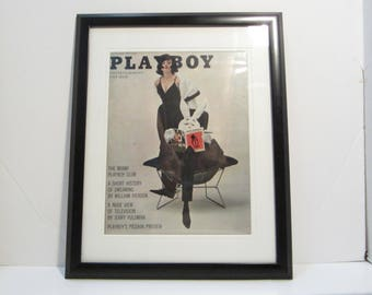 Vintage Playboy Magazine Cover Matted Framed : September 1961 - Barbara Lawford