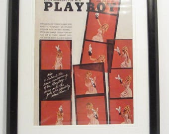 Vintage Playboy Magazine Cover Matted Framed : April 1966 - Cynthia Maddox