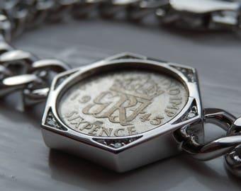 Lucky Sixpence Chunky Bracelet