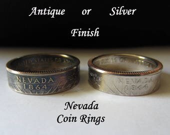 "Nevada State Quarter Handmade ""Coin Ring "" **FREE SHIPPING**"