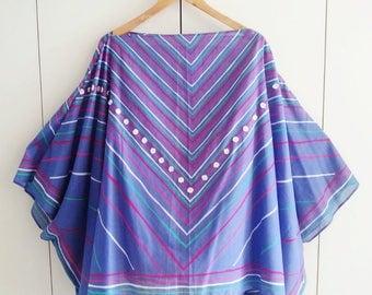 Sun Poncho, Summer Cover Up, Retro Kaftan, Festival Fashion, One Size