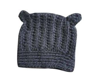 Steely Kitty Hat