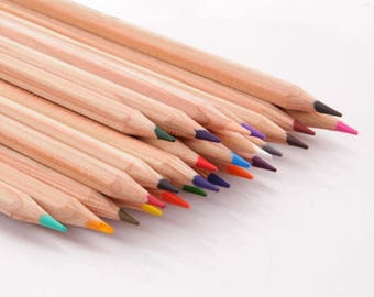 Marco Fine Drawing Pencils 24 Colors and Pencil Sharpener Set....Free Shipping in US!