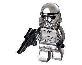 Chrome STORMTROOPER Custom Minifigure 100% Star Wars Lego Compatible!
