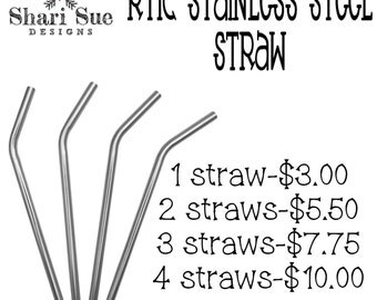 RTIC Stainless Steel Straws, stainless steel straw for RTIC tumbler, stainless steel for tumblers, accessories for RTIC tumbler