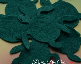 Felt Turtles, Die Cut Turtles, Sea Life Craft Shapes, Pack of Turtles,, Pretty Die Cuts Craft Embellishments