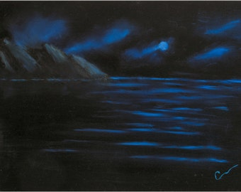 """BLUE MOON, 24x18"""" oil painting"""