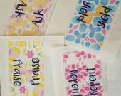 PREORDER bright watercolor prayer bible tabs.