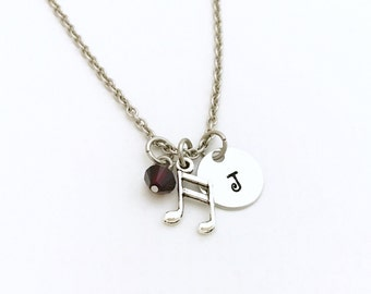 Music Teacher Gift Ideas - Music Teacher Gift - Music Teacher Necklace - Music Note Necklace - Personalized Music Lover Necklace