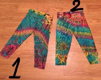 Tie dye crop legging