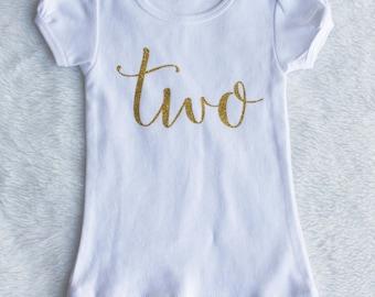 2nd Birthday Shirt, Girl Second Birthday, Birthday Shirt, 2nd Birthday, Birthday Outfit, two birthday shirt, second birthday shirt