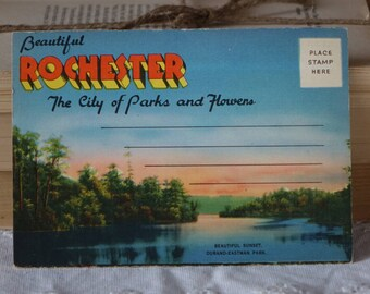 Vintage USA images folder ROCHESTER New York images folder Beautiful ROCHESTER The city of Parks and Flowers Vintage 1950s