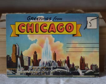 Vintage CHiCAGO images folder - Greetings from CHiCAGO, Illinois - Vintage 1950s