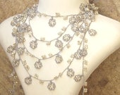 Turkish OYA Lace - Lariat necklace - Small Flowers  *5 colors Crocheted Jewelry Wedding Bib Flowers Accessories Dresses Jewelry