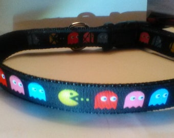 Pac man Pacman dog collar adjustable nylon