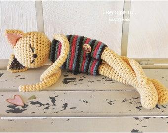 Sleepy Kitty Cat - Organic Cotton - Nursery Decor