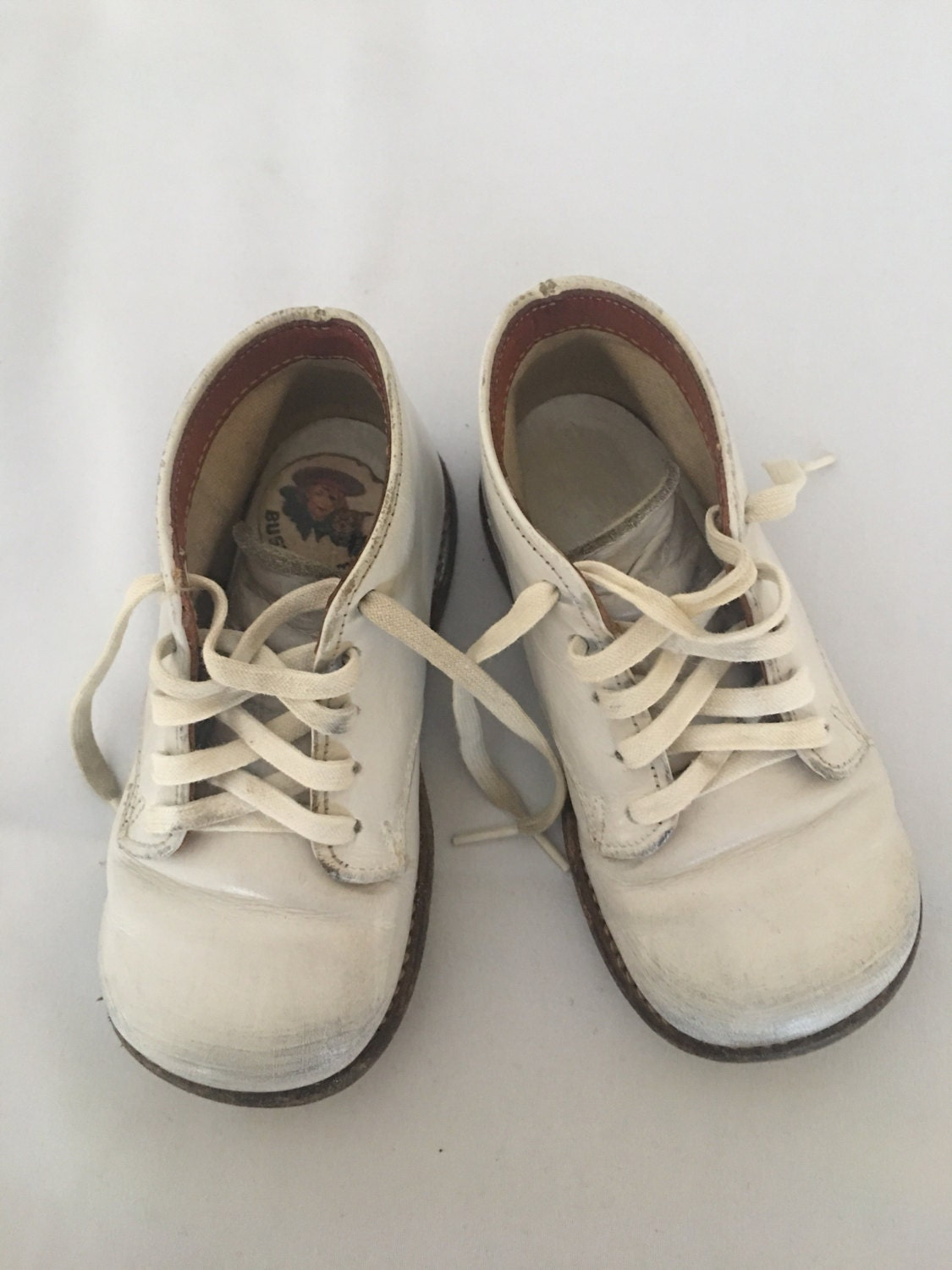 Vintage Buster Brown Baby First Walking Shoes