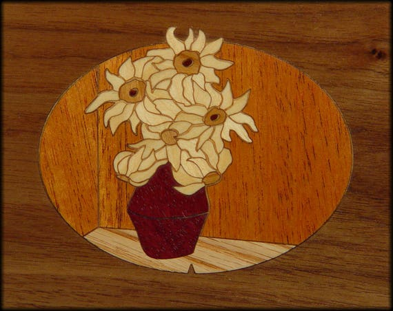"4""x 5"" Marquetry Project Kit - Sunflowers"