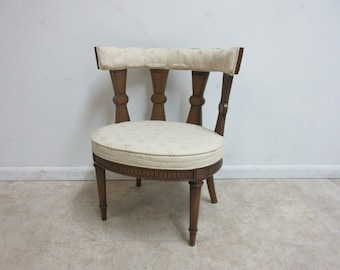 Vintage Italian Regency Fireside Side Lounge Living Room Side Chair B