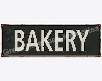 Bakery White on Black Vintage Look Metal Sign 6x18 6180652