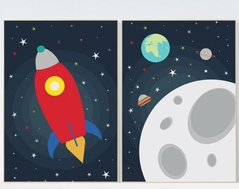 Outer Space Decor Etsy - Space kids room