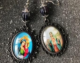 religious - Christian - Virgin Mary Madonna earrings