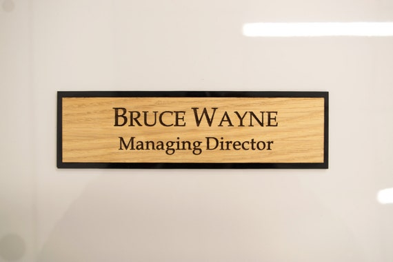 Executive Personalised Wall Name Plate Custom Engraved Sign
