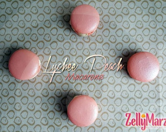 French Macarons - Lychee  Peach