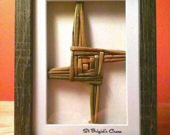 St Brigid's Cross /St Bridget's CrossHandcrafted Cross Irish Made Gift  3 D Box Photo Frame