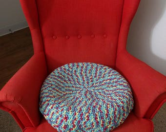 Round pillow/cushion crochet cover