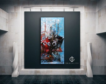 "Print of an Artwork Titled: ""Perama"", High Quality Canvas"
